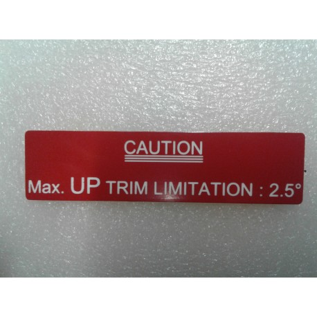 Plaque caution throttle